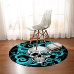 Skull On Tentacles Round Rug