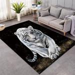 3D White Tiger Rug