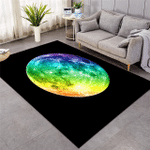 Rainbow Color Moon Rug