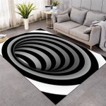 Swirl Optical Illusion Pattern Rug