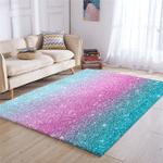Glitter Color Transition Rug