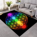 Color Transition Geometric Themed Rug