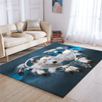3D Wolf Couple Space Rug