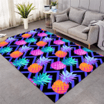Negative Color Pineapples Rug