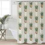 Plain Pineapple Pattern Shower Curtain