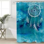 White Dream Catcher Azure Shower Curtain