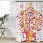 Tree Of Life Elephant Shower Curtain