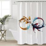 Infinity Lopp Koi Shower Curtain