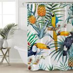 Tropical Themed Tucans Shower Curtain