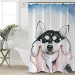 Pinched Husky Shower Curtain