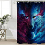 Cosmic Wolf Contrast Shower Curtain