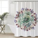Coloful Flowers Shower Curtain