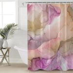 Faded Marble Pastel Shower Curtain
