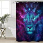 Cosmic Lion Shower Curtain