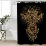 Golden Owl Dream Catcher Shower Curtain