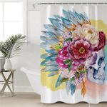 War Bonnets Skull Shower Curtain