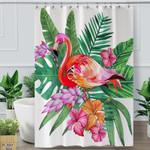 Tropical Famingo Shower Curtain