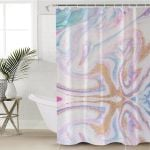Color Glitter Shower Curtain