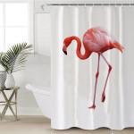 Flamingo White Shower Curtain