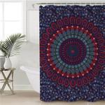 Deep Ocean Mandala Themed Shower Curtain