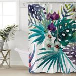3D Orchids Shower Curtain