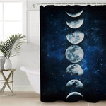 Moon Phases Galaxy Shower Curtain