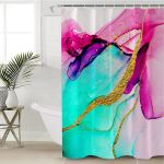 Mixed Watercolor Shower Curtain