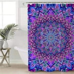 Hypnotizing Mandala Motif Shower Curtain