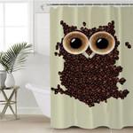 Coffee Bean Owl Shower Curtain