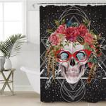 Gaudy Feminine Skull Shower Curtain
