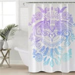 Duel Wolves White Shower Curtain