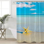 Starfish By The Beach Shower Curtain