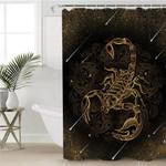 Golden Scorpio Constellation Shower Curtain
