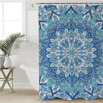 Concentric Cool Color Shower Curtain