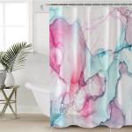 Pink & Teal Blend Shower Curtain