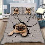 Custom Bedding Pug Dog Bedding Set