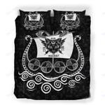 Custom Bedding Evil Cat Viking Ship Bedding Set