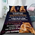Custom Bedding Personalized Name Lion To My Son Comforter Set Duvet Cover Bedding Set - Gift for Son #45123