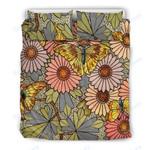 Custom Bedding Butterfly Flower Bedding Set