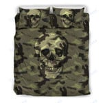 Custom Bedding Camo Skull Bedding Set Camouflage with Skulls