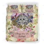 Custom Bedding Sugar Skull Always Kiss Me Goodnight Bedding Set