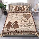 Custom Bedding Country- I Choose You Ride A Horse Bedding Set