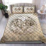 Custom Bedding Dragon and Wolf Bedding Set