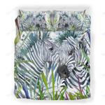 Custom Bedding Zebras Camouflage Watercolor Bedding Set