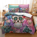 Custom Bedding 3D Sugar Skull Bedding Set #79438