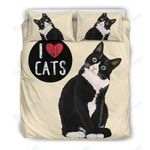 Custom Bedding I Love Cats Bedding Set for Cat Lovers
