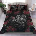 Custom Bedding Roses and Dragon Art Bedding Set