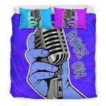 Custom Bedding Rock On Bedding Set for Music Freaks