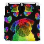 Custom Bedding Love Pug Bedding Set for Lovers of Pugs