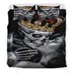 Custom Bedding 3D Dead Sugar Skull Girl Kissing Skull Bedding Set